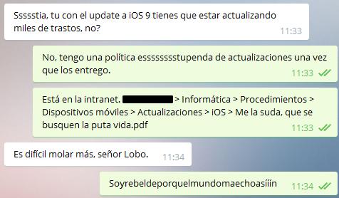 Política de actualización de iOS