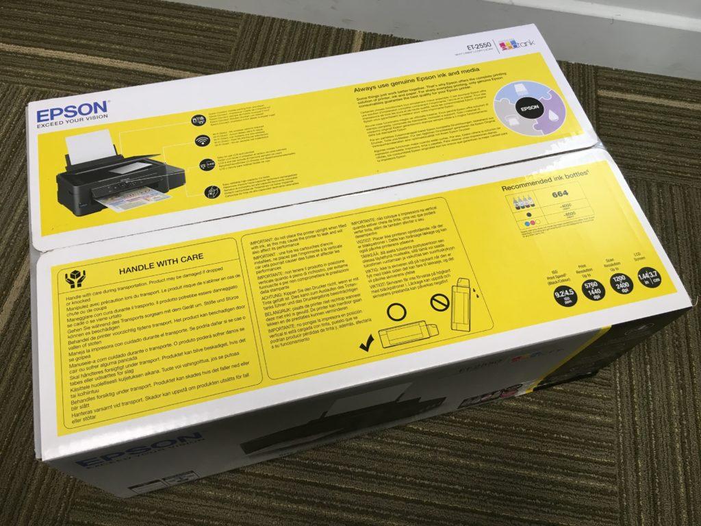 La típica caja de impresora